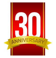 Label for 30 years celebration vector