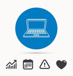 laptop icon mobile pc sign vector image