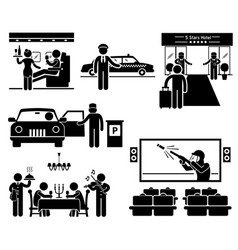 Luxury services first class business vip stick vector