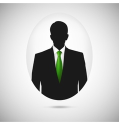 Male person silhouette profile picture whit green vector