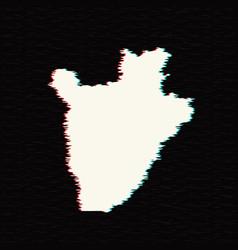 map burundi isolated black vector image