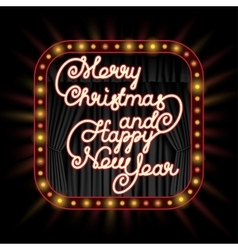 Merry Christmas invitation vector image