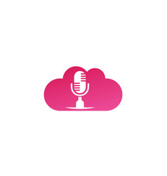 microphone and speakerphone for logo design in a vector image