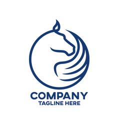 Modern horse pegasus logo vector