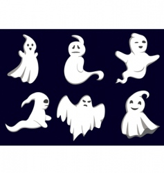 mystery ghosts vector image