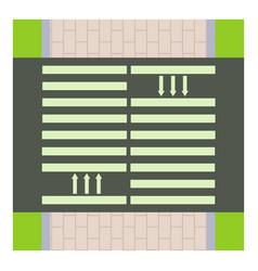 pedestrian road icon cartoon style vector image