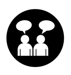 people talk icon design vector image