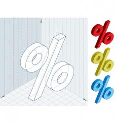 percent framework vector image