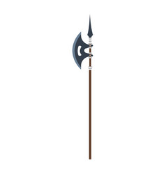 poleaxe weapon medieval icon isolated symbol vector image