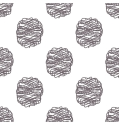 Polka scribble lines seamless pattern vector