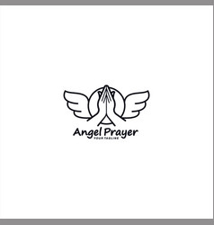 prayer logo design template idea vector image