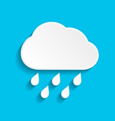 rain icon with cloud and drop vector image