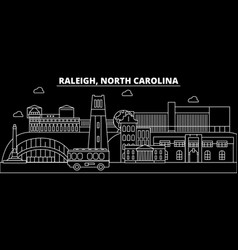 raleigh silhouette skyline usa - raleigh vector image