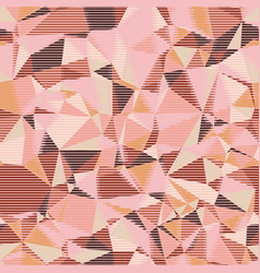 Random seamless pink triangle pattern tile mess vector