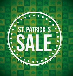 saint patricks sale design vector image