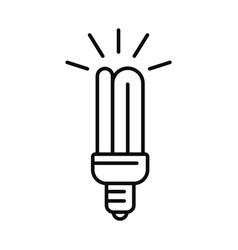 save energy bulb icon outline style vector image