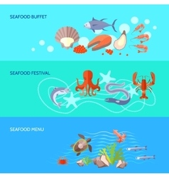 Sea Food Banner Set vector image
