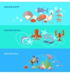 Sea Food Banner Set vector image