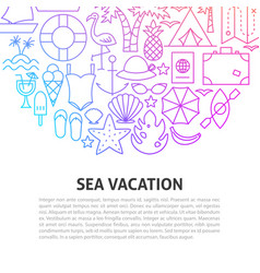 sea vacation line concept vector image