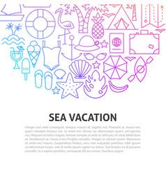 sea vacation line concept vector image