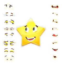 Star 3d emoji emoji avatar maker vector