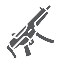 Submachine gun glyph icon army and military vector