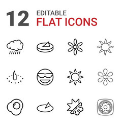 Sunny icons vector