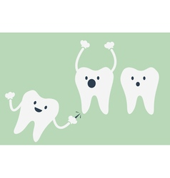 Teeth be pained because wisdom tooth vector