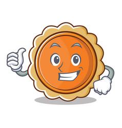 thumbs up pumpkin pie character cartoon vector image