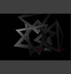 Triangle shape scene in dark vector