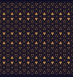 triangles hexagon gold black02 vector image