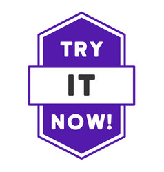 Try it now stamp flat icon vector