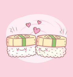 Unagi sushi menu restaurant food cute vector