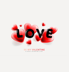 valentines day background with heart shape vector image