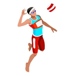 Volleyball Beach 2016 Sports Isometric 3D vector