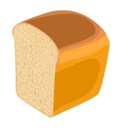 Wheat bread icon realistic style vector image