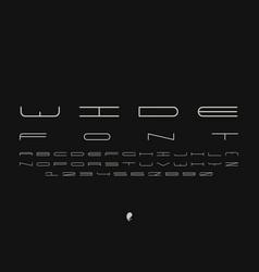 wide font alphabet vector image