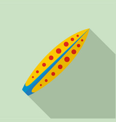 yellow red dot surfboard icon flat style vector image