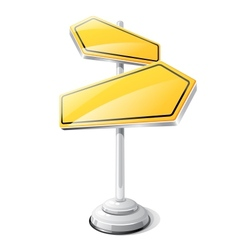 Yellow road sign isolated design template vector image