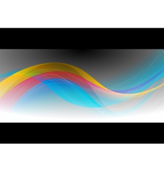Abstract wave design vector image vector image