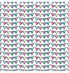 cute party flag decoration design background vector image vector image