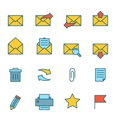 Email Icons Flat vector image vector image