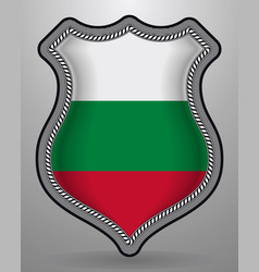 flag of bulgaria badge and icon vector image