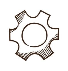 Gear symbol vector image vector image