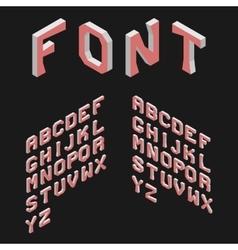 Isometric Latin Alphabet 3D Geometric Font Three vector image vector image