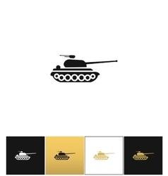 Military tank sign or fire warfare artillery vector image