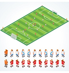 soccer tactics kit vector image