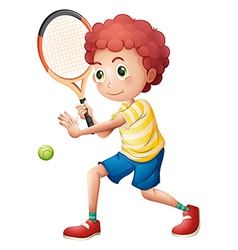 A young tennis player vector image vector image