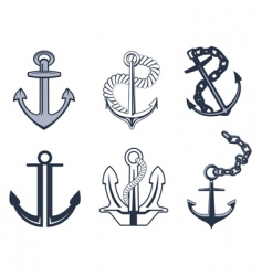 anchor symbols vector image