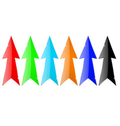 arrows colored set vector image